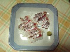 真鯛のお刺身