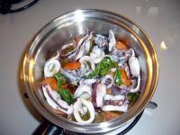 アオリイカのオリーブ炒め