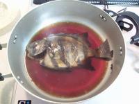 シマ鯛の煮付け(飾り包丁を忘れる・・・)