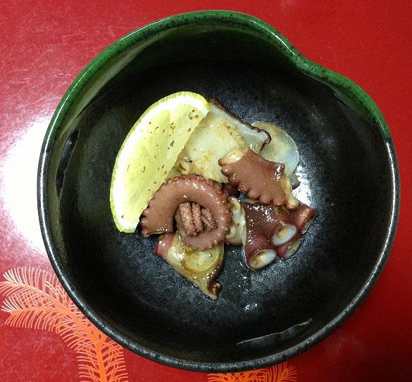 マダコのカルパッチョ(和風)